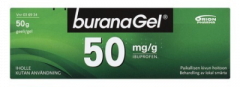 BURANAGEL 50 mg/g geeli 50 g