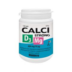 CALCI STRONG + MG + D3 400 MG/10 MIKROG X150 TABL